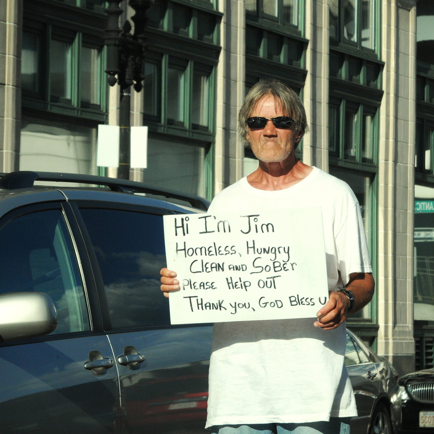 Jim, homeless in Boston